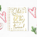 Christmas Planner Notebook 'She's Making A List'