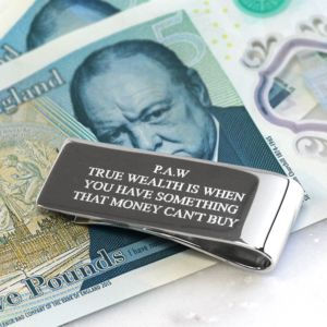 Personalised Silver Money Clip - mens