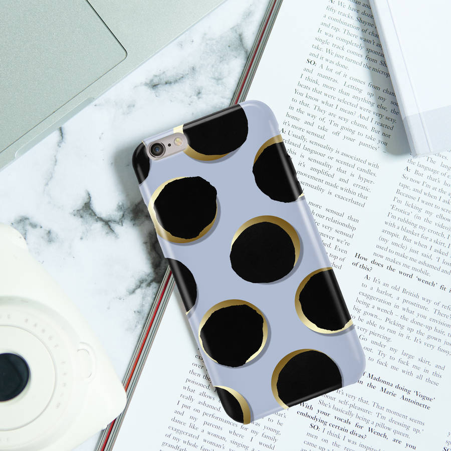 Painted Dots Phone Case, Blue, More Colours