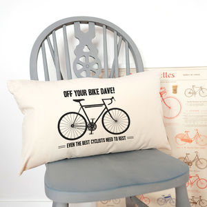 Personalised Off Your Bike' Cycling Cushion - cushions