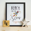 Personalised Reach For The Stars Illustration Print