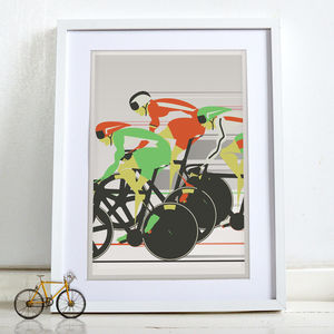 Velodrome Bicycle Poster Bike Wall Art Print