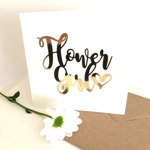 Luxe Gold Flower Girl Card
