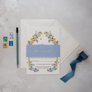 Spring Blossom Wedding Invitation - wedding stationery