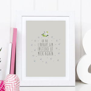 Illustrated Gin Print