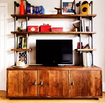 Claudia Bespoke Reclaimed Wood Shelves And Cupboards