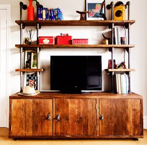 Claudia Bespoke Reclaimed Wood Shelves And Cupboards - cabinets