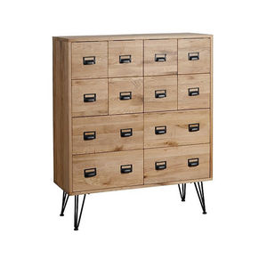 Oak Wood Pharmacy Chest - furniture