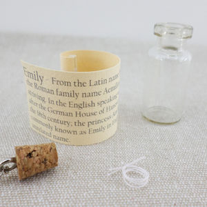 Bridesmaid Keepsake Name Pendant
