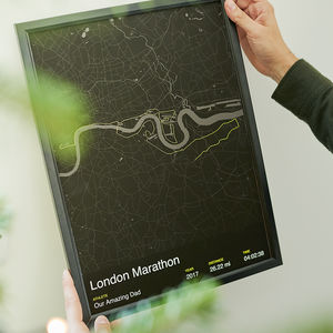 Personalised London Marathon Map Print - gifts for fathers