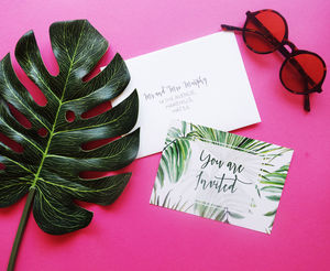 Palm Tree Write Yourself Wedding Invitation