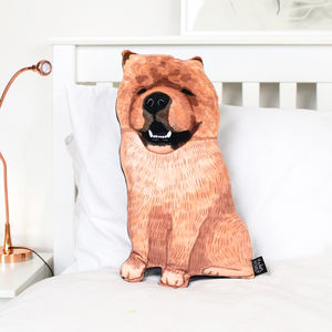 Chow Chow Velvet Dog Pillow - new in home