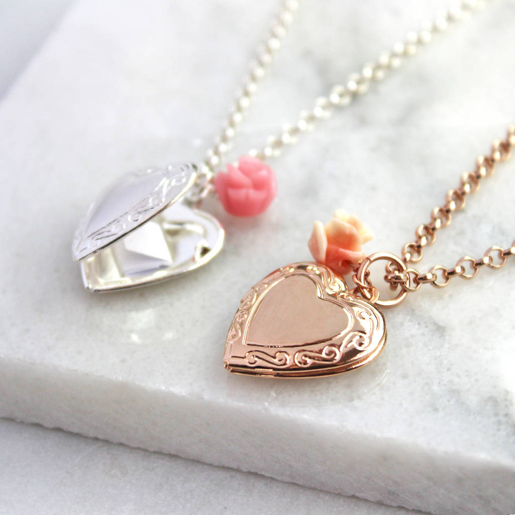 her for locket picture minimalistic timeless necklace pin heart lockets jewelry gifts simple