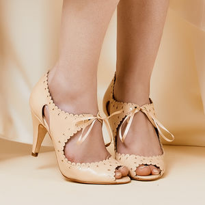 Lace Up Wedding Shoes Amelie - bridal shoes