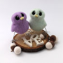 Mini Pastel Bird Wedding Cake Topper