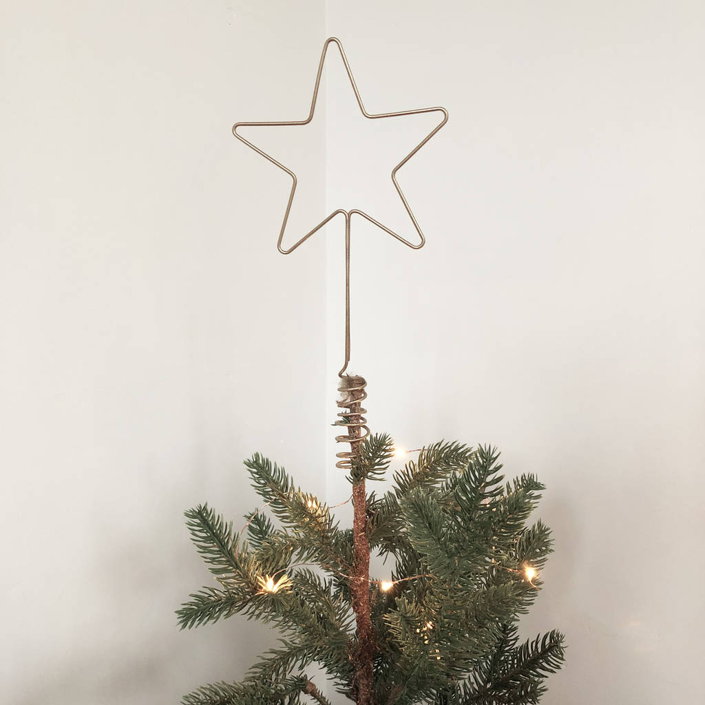 Letter Christmas Tree Topper: Star Wire Christmas Tree Topper By The Letter Loft