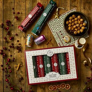 craft beer christmas crackers six set - British Christmas Crackers