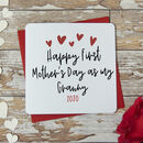 Happy First Mother's Day As My Grandmother Heart Card