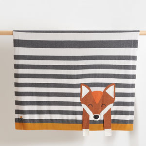 Lynx Stripy Fox Baby Blanket - baby care