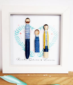 Personalised Peg Portrait - children's pictures & paintings