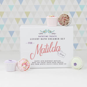 Personalised Bath Creamer Gift Set - bathroom