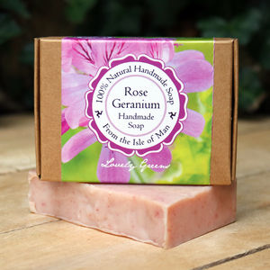 Handmade Palm Oil Free Rose Geranium Soap