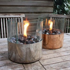 Copper Or Steel Tabletop Oil Garden Lantern - outdoor lights