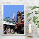 Borough Market, London Illustration Print