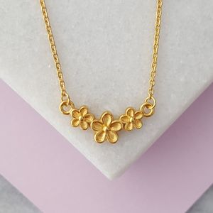 Triple Flower Garland Necklace