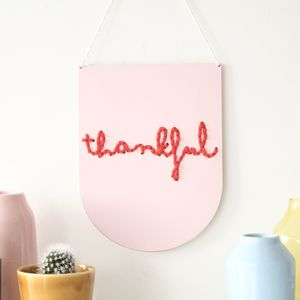 Laser Cut Hand Painted Wooden Embroidery Banner Kit - gifts for grandmothers