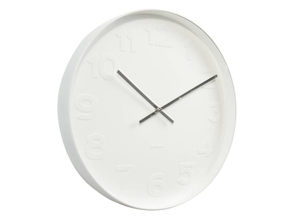 minimalist wall clock by peastyle | notonthehighstreet.com