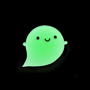 Glow In The Dark Kawaii Halloween Ghost Acrylic Brooch