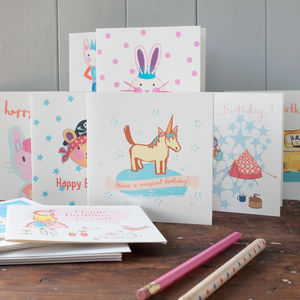 A Pack Of Ten Children's Birthday Cards - birthday cards