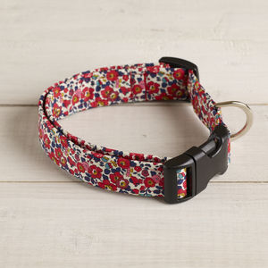 Betsy Liberty Fabric Dog Collar - dogs
