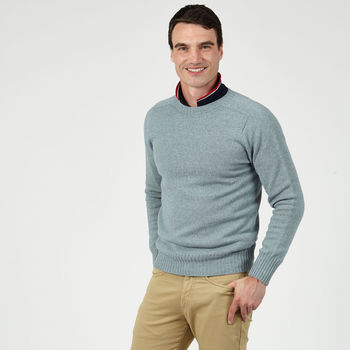 Men's Bruce Drift Blue Lightweight Jumper