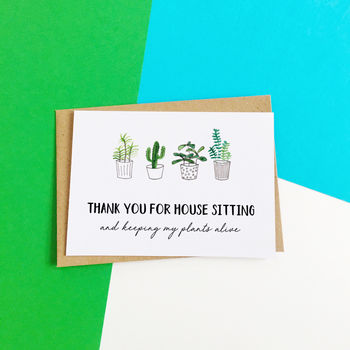 Funny Thank You For House Sitting Card