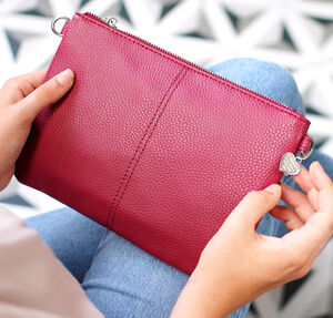 Personalised Vegan Leather Clutch Bag