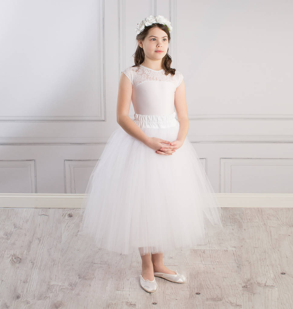 Ballerina Tutu Flower Girl Skirt