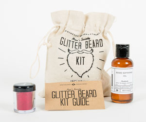 Glitter Beard Kit - stocking fillers