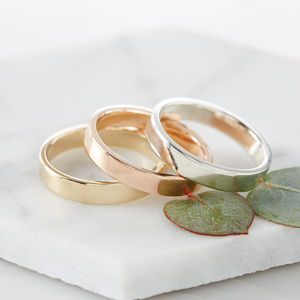 Gold Artisan Wedding Band