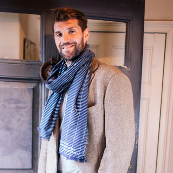 Personalised From The Bump Father's Day Men's Scarf