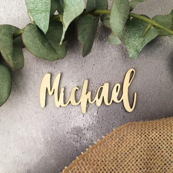 Personalised Wood Name Place Setting
