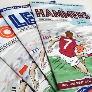 Personalised Football Comic Book Create Your Own - for football lovers