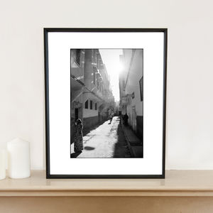 Streets Of Fes, Morocco Art Print - photography & portraits