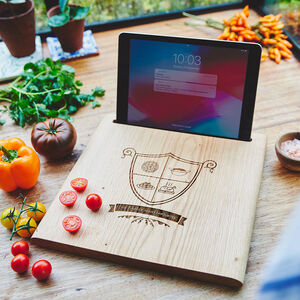 Family Crest Chopping Board And iPad Stand