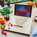 Family Crest Chopping Board And Stand For iPad