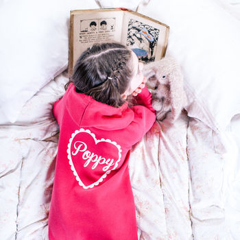 Personalised Kids Heart Onesie