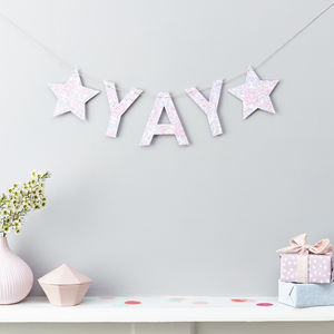 Yay Or Congrats Liberty Fabric And Card Garland