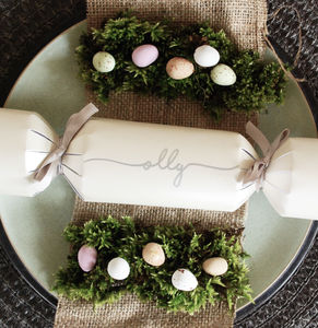 Personalised Easter Table Crackers
