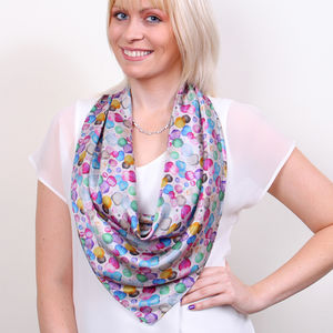 Bloom Square Silk Scarf